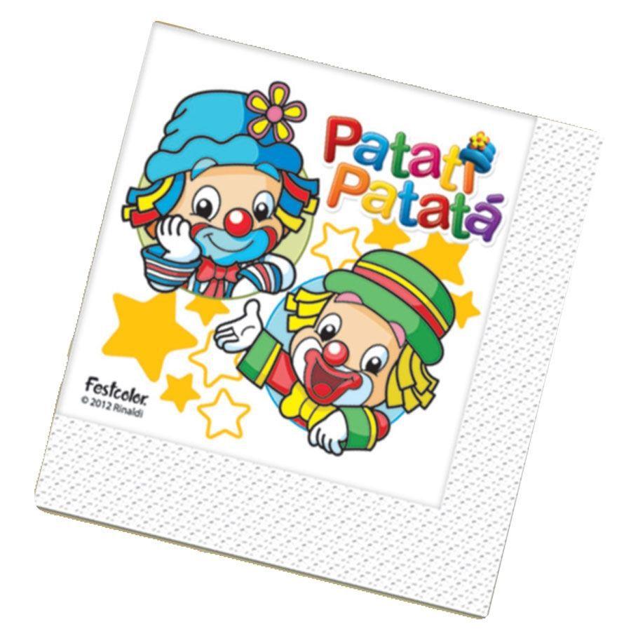 Guardanapo Patati e Patatá Baby - 16 unidades