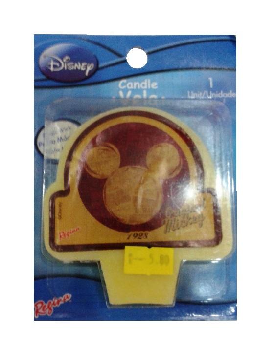 Vela de Aniversário Original Mickey Mouse