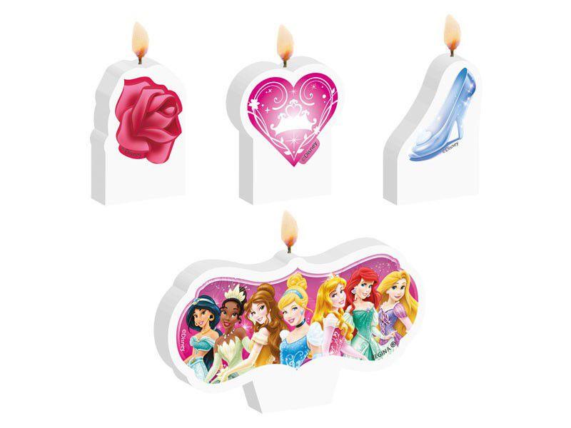 Vela de Aniversário Princesas Disney