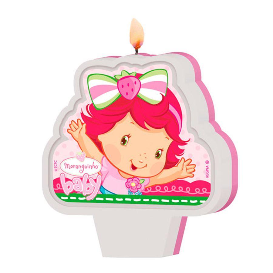Vela de Aniversário Moranguinho Baby New