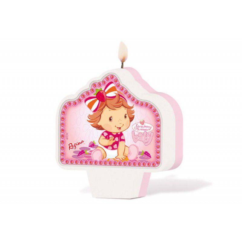 Vela de Aniversário Moranguinho Baby