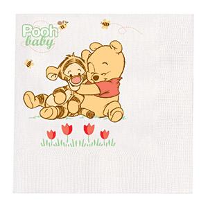 Guardanapo Ursinho Pooh Baby c/ 16 unid.