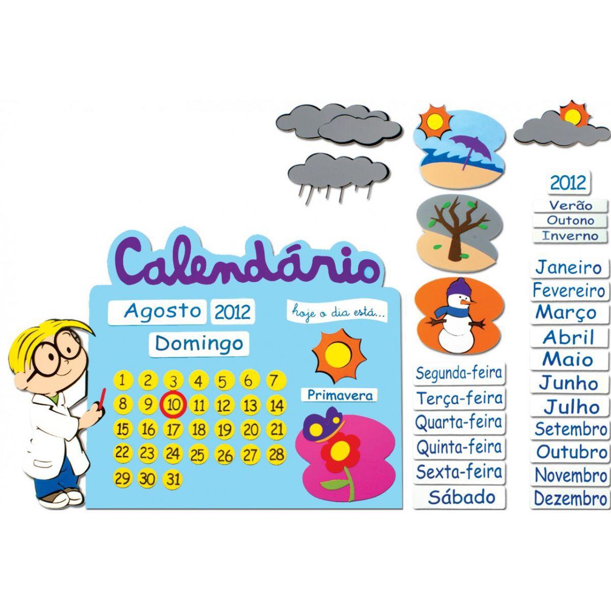 Painel Calendário Escolar E.V.A