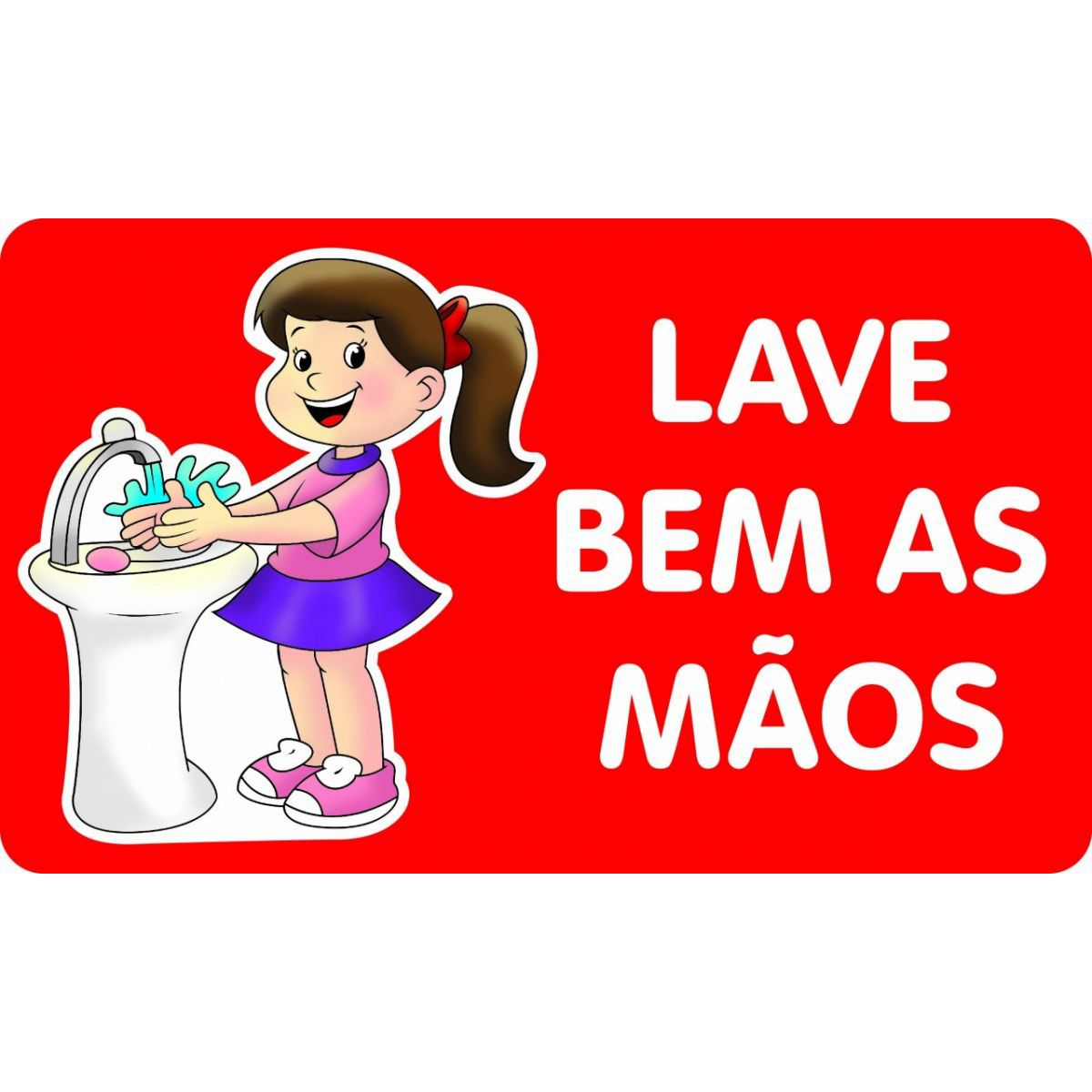 Painel Lave Bem as Mãos Meninas E.V.A