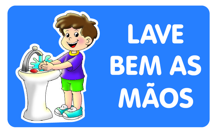 Painel Lave Bem as Mãos Meninos E.V.A