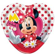 Prato Descartável Minnie Mouse c/ 8 unid.
