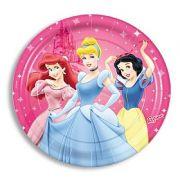 Prato Descartável Princesas Disney c/ 8 unid