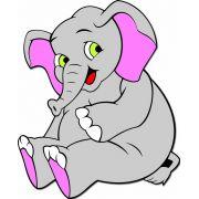Painel Elefante Baby E.V.A