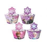 Porta Cupcake Wrapper Frozen Uma Aventura Congelante c/ 12 unid.