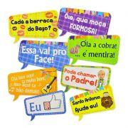 Placas Divertidas p/ Festa Junina c/ 8 unid