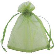 Saquinho em Organza 9,5cmx14cm - Verde