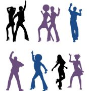 Painel Siluetas Dance c/ 7 unid E.V.A