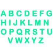 Letras em E.V.A - Verde Piscina
