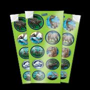 Lembrancinha Adesivos Jurassic World 03 cartelas - Festcolor