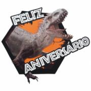 Faixa Feliz Aniversario Idominus Rex - Jurassic World