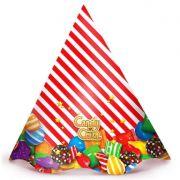 Chapéu de Aniversário - c/ 8 unid. - Candy Crush