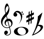 Kit Painel Decorativo Notas Musicais c/ 8 peças