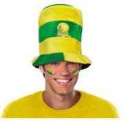 Chapéu Cartola Baixa Listras Horizontais Verde e Amarelo Brasil