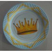 Prato Descartável c/ Coroa Azul