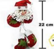 Enfeite de Natal Papai Noel 01 com perna longa