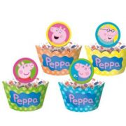 Porta Cupcake Wrapper Peppa Pig c/ 12 unid.