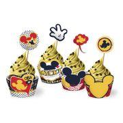 Cupcake Wrapper Mickey Clássico c/ 12un.
