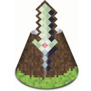 Chapéu de Aniversário Mini Pixels c/ 8 unid.