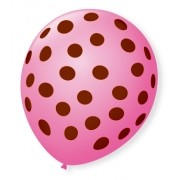 Balao poa rosa com marrom