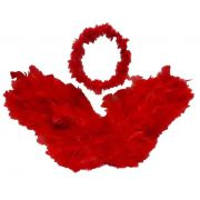 Asa de Anjo Vermelha c/ Auréola