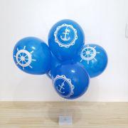Balão Marinheiro N9 Azul com Branco