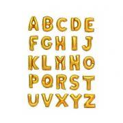 Balão Metalizado Letras Dourado - 75 cm
