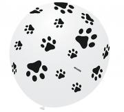 Balão Pegada de Cachorro N9 Branco e Preto