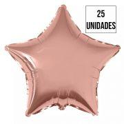 Kit 25 Balão Estrela Rose