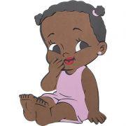Painel Bebê Menina Negra E.V.A