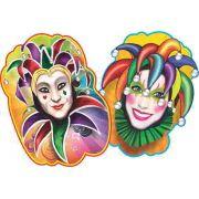 Painel Carnaval - Arlequim e Arlequina