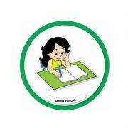 Placa Sempre Estudar