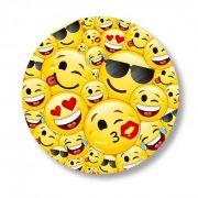 Prato Decartável Emoji c/ 8 unid.