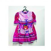 Vestido Caipira Juvenil - Roxo com rosa