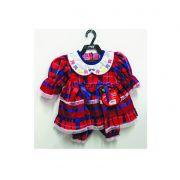 Vestido Junino Bebê -  Vermelho com laço