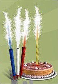 Vela de Aniversário Fonte de Luz - Vulcão