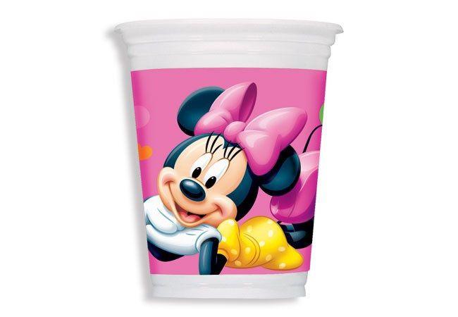 Copo Descartável Minnie Mouse 200ml c/ 8 unid