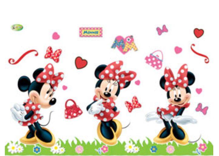 Kit Painel Impresso Minnie Mouse E.V.A - 37 peças