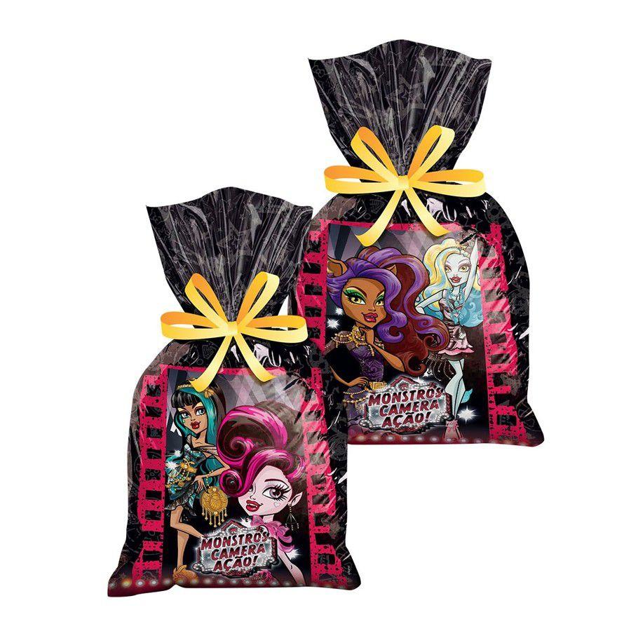 Sacola Surpresa Monster High - Monstro, Câmera e Ação! c/ 8 unid.