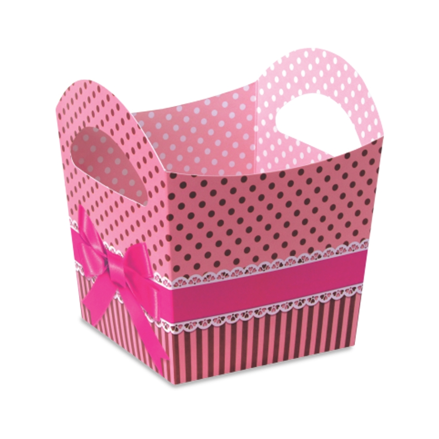 Cachepô Cesta Pink Chocolate