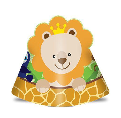 Chapéu de Aniversário Bem Vindo a Selva - Safari c/ 8 unid