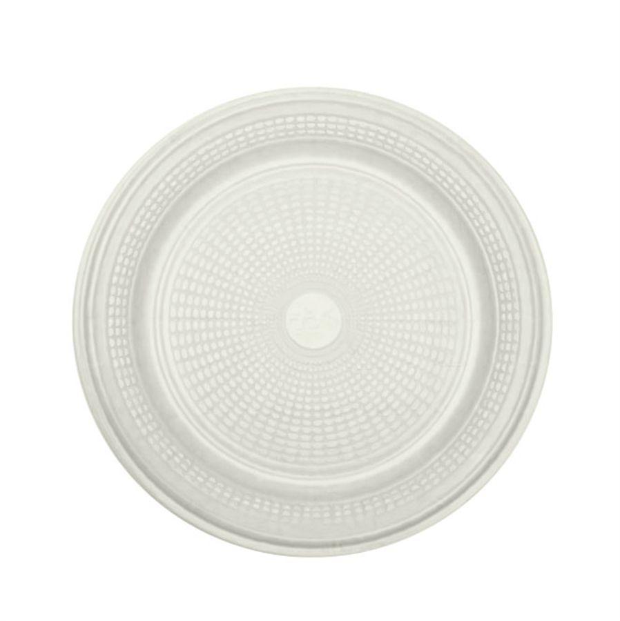 Prato Descartável p/ Churrasco Branco 25cm c/ 10 unid