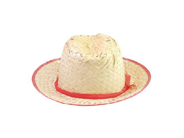 Chapéu Caipira de Palha Italianinho Vermelho