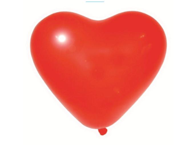 Balão de Látex Nº 11 - Coração - Liso - Vermelho c/ 20 unid.