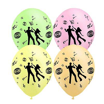 Balão de Látex Nº 10 - Estampado - Disco Dance Neon c/ 25 unid. - Balloontech