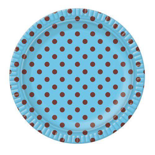 Prato de Papelão - Laminado - N 7 - Liso - cores